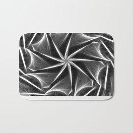 Gray Kaleidoscope Art 16 Bath Mat