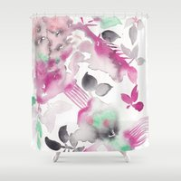 grateful dead Shower Curtains featuring Grateful by The East Auklet
