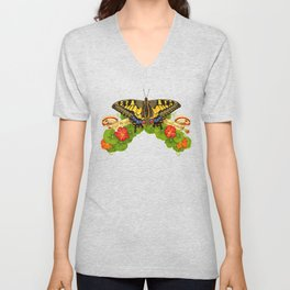 Old World Swallowtail Butterfly Unisex V-Neck