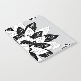 Black & white leaves Notebook