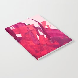 Embers: a vibrant abstract piece in pinks Notebook