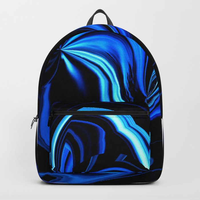Blue Butterfly Abstract Backpack