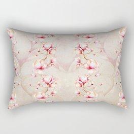 Trailing Pink Magnolias Rectangular Pillow