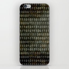 The Binary Code - Distressed textured version iPhone Skin