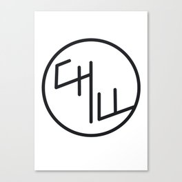 Chill Black and white Canvas Print