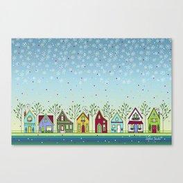 Doodle Houses Canvas Print