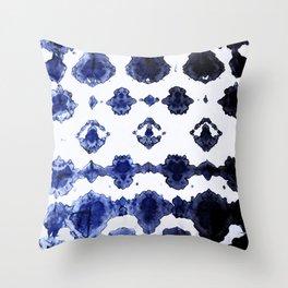 Habotai Shibori Ikat Throw Pillow