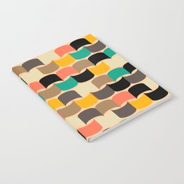 Retro abstract pattern Notebook