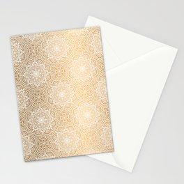 Gold Mandala 18 Stationery Cards