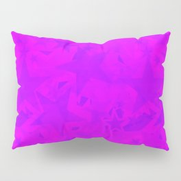 Calm intersecting blurred purple stars on a lilac background. Pillow Sham