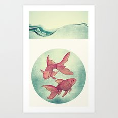 Goldfishes Art Print
