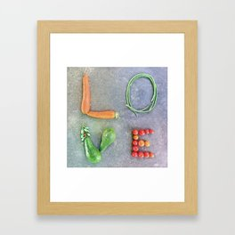 L.O.V.E. Framed Art Print