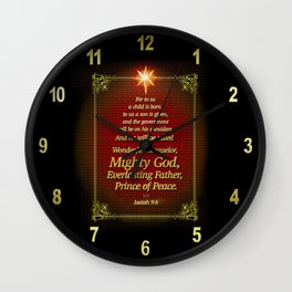 For to us a child is born . . . Wall Clock