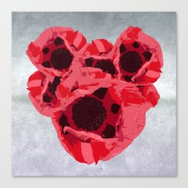 In memoriam - Heart of poppies Canvas Print