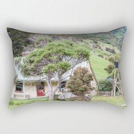 Cottage at Flea Bay, Akaroa, New Zealand Rectangular Pillow