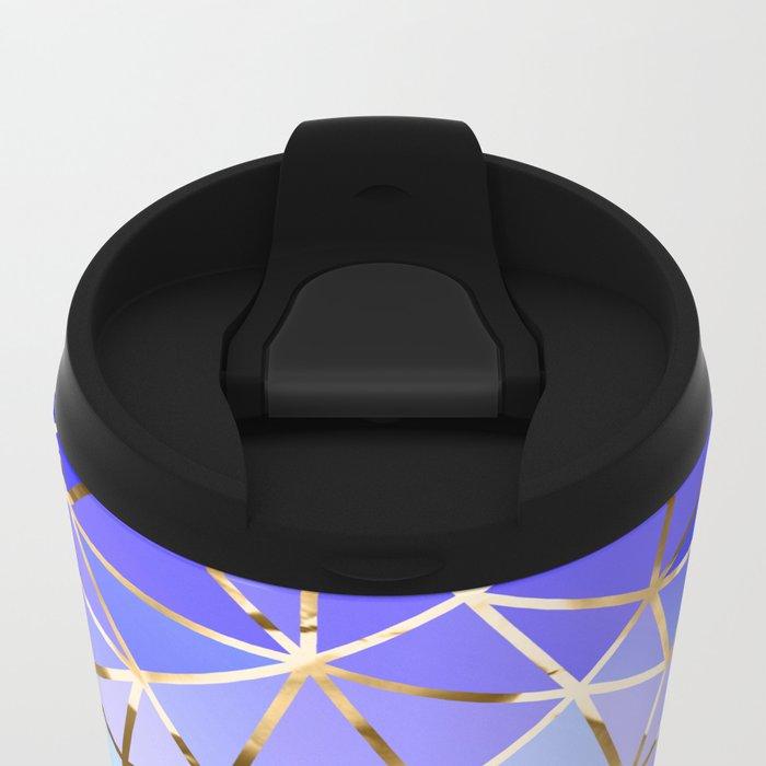Rainbow Geometric pattern #3 Travel Mug