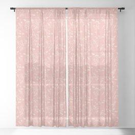 hazy floral Sheer Curtain