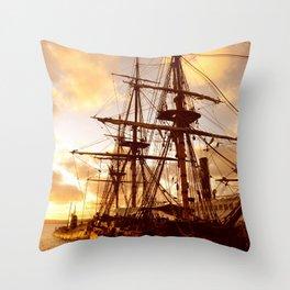 PIRATE SHIP :) Throw Pillow
