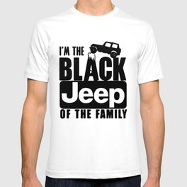 I_M the Black JEEP of The Family funny Truck off road New trucker T-shirt