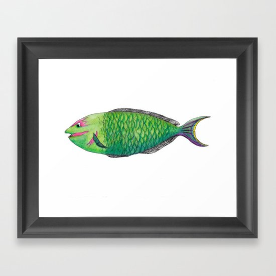 One Fish Framed Art Print