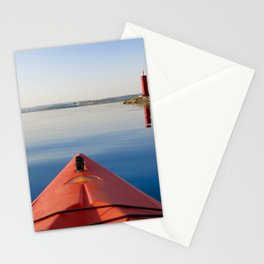 Kayak on the Lake Stationery Cards