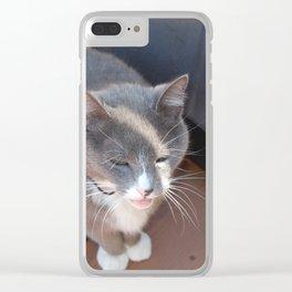 Old man Wilbur Clear iPhone Case
