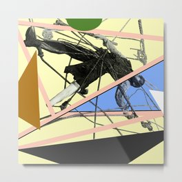 Ahab Tangled in Geometry Metal Print