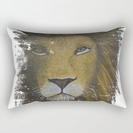 Distressed Lion Rectangular Pillow