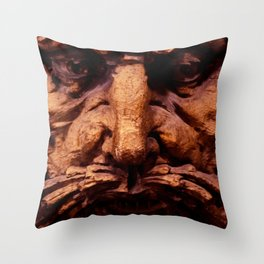 Wooden Man I (Color) Throw Pillow