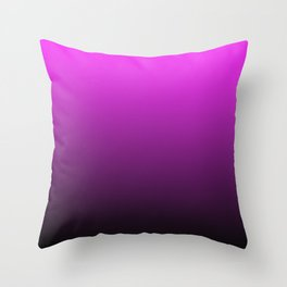 Deep Pink to Black Gradient Throw Pillow