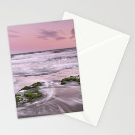 Purple sunset at the beach. Marbella. Stationery Cards