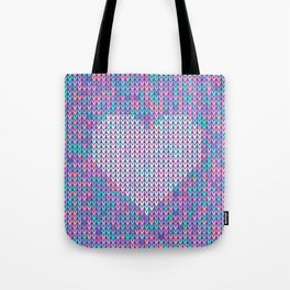 Heart Knit Tote Bag