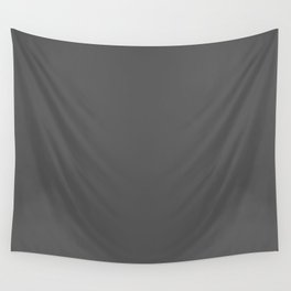 Dark Pewter Grey Solid Color Pairs Sherwin Williams Peppercorn SW 7674 Accent Shade - Hue - Colour Wall Tapestry