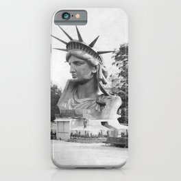 The Statue of Liberty Head On Display - Paris France 1883 iPhone Case