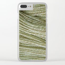 Yellow, light green handspun yarn Clear iPhone Case
