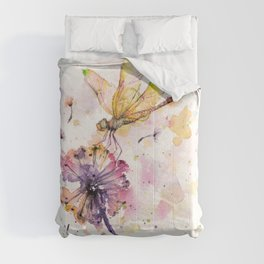 Dragonfly & Dandelion Dance Comforters