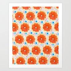 Citrus/Geo Art Print