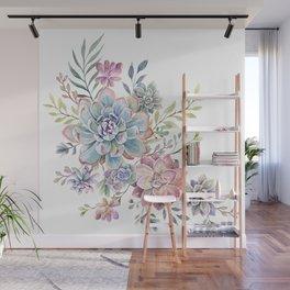 succulent watercolor 6 Wall Mural