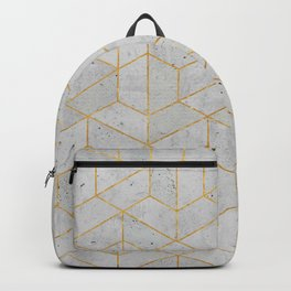 Concrete Hexagonal Pattern Backpack