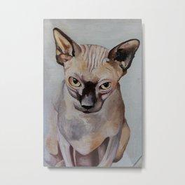 Artwork, animal, oilpainting. Sphynx. Cat Metal Print