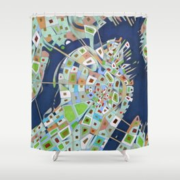 city map Shower Curtain