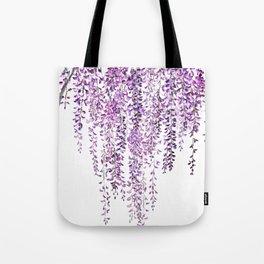 purple wisteria in bloom Tote Bag