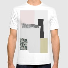 On the wall White Mens Fitted Tee MEDIUM