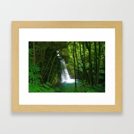 Waterfall in the Azores Framed Art Print