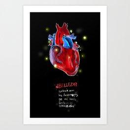 Belleza de corazón Art Print