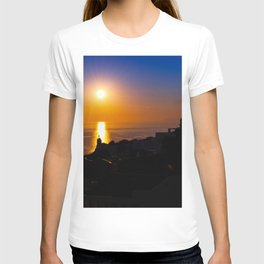 Oia sunset i T-shirt