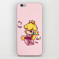 princess peach iPhone & iPod Skins featuring Princess peach by HeliPeach
