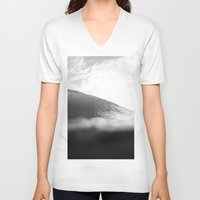 lip V-neck T-shirts featuring Under Lip by James Tull