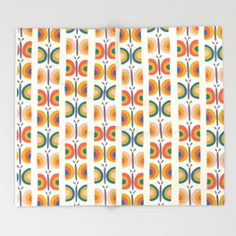 Retro Butterflies Throw Blanket