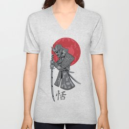 Japanese Samurai Warrior Unisex V-Neck